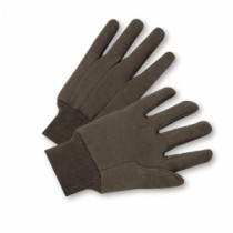 Standard Poly/Cotton Brown Jersey Gloves (#750)