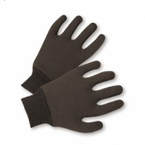 Reversible Poly/Cotton Brown Jersey Gloves (#750R)