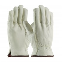 PIP® Top Grain Cowhide Leather Glove with Red Foam Lining - Straight Thumb  (#77-208)