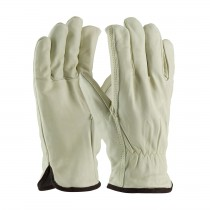 PIP® Top Grain Cowhide Leather Glove with White Thermal Lining - Straight Thumb  (#77-218)