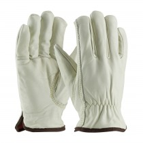 PIP® Top Grain Cowhide Leather Glove with Red Foam Lining - Keystone Thumb  (#77-268)