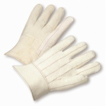 Burlap Lined Cotton Hot Mill Gloves (#7900BL)