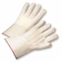 Burlap Lined Cotton Hot Mill with Gauntlet Cuff Gloves (#7900BLG)
