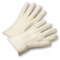 Nap In Quilted Cotton Double-Palm Band Top Gloves (#790NIBT)