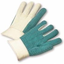 Standard Cotton Hot Mill Band Top Green Gloves (#7924GR)
