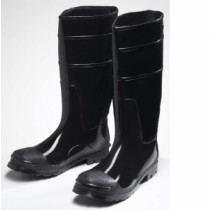 Black PVC Steel Toe Boot (#8350)