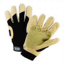Ironcat® Reinforced Top Grain Pigskin Leather Palm Glove with 3M™ Thinsulate™ Lining-Spandex Back  (#86355)