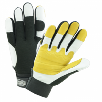 Ironcat® Ironcat® Reinforced Heavy Duty Top Grain Goatskin Leather Palm Glove with Spandex Back  (#86555)