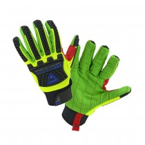 R2 Green Corded Palm Rigger Glove with hook and Loop Wrist (#87800)