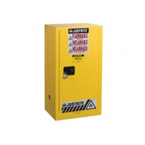 Sure-Grip EX Compac Flammable Safety Cabinet, 1 Shelf, Self-Close Door, 15 Gallon Cap. (#891520)