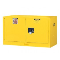 Sure-Grip EX Wall Mount Flammable Safety Cabinet, 1 Shelf, Manual Doors, 17 Gallon Cap. (#8917008)
