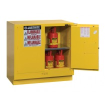 Sure-Grip EX Undercounter Flammable Safety Cabinet, 1 Shelf, Self-Close Doors, 22 Gallon Cap. (#892320)
