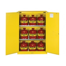 Sure-Grip EX Flammable Safety Cabinet/Can Package, 2 Shelf, Self-Close Doors, 45 Gallon Cap. (#8945208)