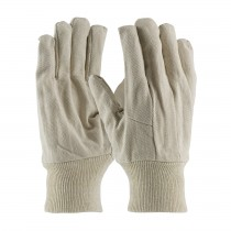PIP® Economy Grade Cotton Canvas Single Palm Glove with Wing Thumb - Knitwrist  (#90-909I)
