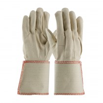 PIP® Premium Grade Cotton Canvas Single Palm Glove - Plasticized Gauntlet Cuff  (#90-910GA)