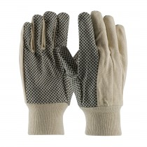 PIP® Premium Grade Cotton Canvas Glove with PVC Dot Grip on Palm, Thumb and Forefinger - 8 oz  (#91-908PD)