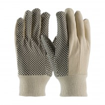 PIP® Premium Grade Cotton Canvas Glove with PVC Dot Grip on Palm, Thumb and Forefinger - 8 oz  (#91-908PDC)