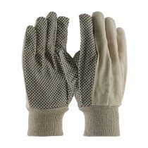 PIP® Economy Grade Cotton Canvas Glove with PVC Dot Grip on Palm, Thumb and Forefinger - 8 oz  (#91-908PDI)