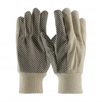 PIP® Economy Grade Cotton Canvas Glove with PVC Dot Grip on Palm, Thumb and Forefinger - 10 oz  (#91-910PDI)