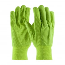 PIP® Hi-Vis Premium Grade Cotton Canvas Glove with PVC Dot Grip on Palm, Thumb and Forefinger - 10 oz  (#91-910PDL)