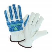 West Chester® Top Grain Sheepskin Leather Glove with Kevlar® Liner and TPR Molded Knuckle and Dorsal Gaurds  (#9120)