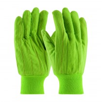 PIP® Hi-Vis Cotton / Polyester Double Palm Glove with Nap-in Finish - Knitwrist  (#92-918PCG)