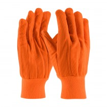 PIP® Hi-Vis Cotton / Polyester Double Palm Glove with Nap-in Finish - Knitwrist  (#92-918PCO)