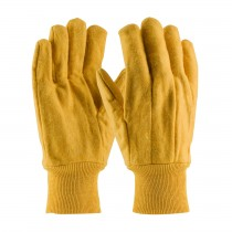 PIP® Economy Grade Cotton Chore Glove with Single Layer Palm/Back and Nap-out Finish - Knit Wrist  (#93-568)