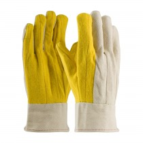 PIP® Premium Grade Cotton Chore Glove with Double Layer Palm/Back and Nap-out Finish - Band Top  (#93-589)