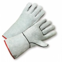 Select Grey Split Cowhide Welder Kevlar Thread Gloves (#930K)