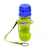 """Eflare™ 6"""" Safety & Emergency Beacon with Steady-On Worklight and Magnetic Base - Flashing Blue  (#939-TF250-B-ASY)"""