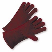 Standard Russet Split Cowhide Leather Welder Gloves (#940R)