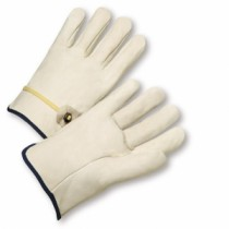 PIP® Top Grain Cowhide Leather Drivers Glove with Ball and Tape Closure - Straight Thumb  (#990T)