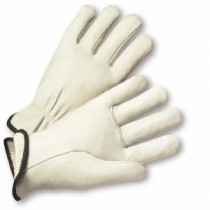PIP® Top Grain Cowhide Leather Glove with White Thermal Lining - Straight Thumb  (#999)