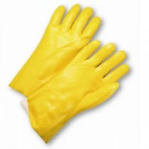 Semi-Rough PVC Jersey Lined Gloves (#J1027RY)