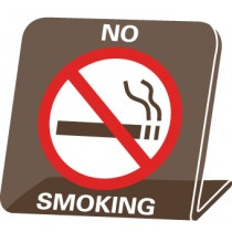 No Smoking Desk Sign (#AS75)