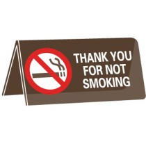 Thank You For Not Smoking Desk Sign (#AS79)