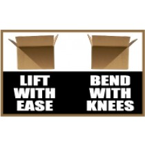 Lift With Ease Bend With Knees Banner