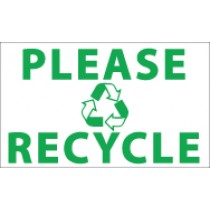 Please Recycle Banner