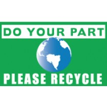 Do Your Part Please Recycle Banner