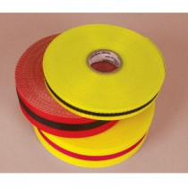Webbed Barrier Tape, Red/Black (#BT7RB)