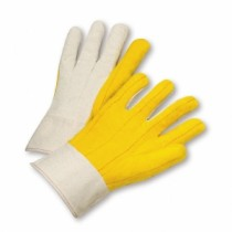 PIP® Premium Grade Cotton Chore Glove with Double Layer Palm/Back and Nap-out Finish - Band Top  (#BWB51SI)