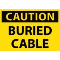 Caution Buried Cable Machine Label (#C105AP)