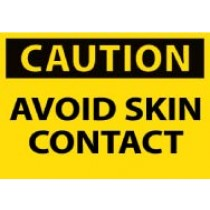 Caution Avoid Skin Contact Machine Label (#C118AP)