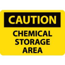 Caution Chemical Storage Area Machine Label (#C126AP)