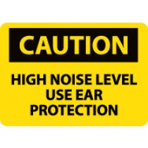 Caution High Noise Level Use Ear Protection Machine Label (#C161AP)