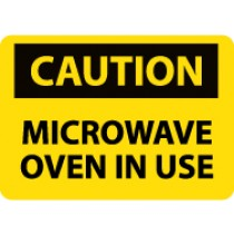 Caution Microwave Oven In Use Machine Label (#C180AP)