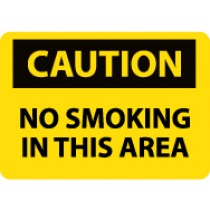 Caution No Smoking In This Area Sign (#C213)
