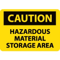 Caution Hazardous Material Storage Area Machine Label (#C310AP)