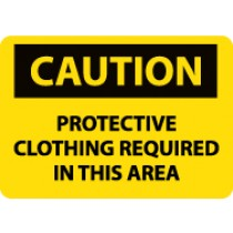 Caution Protective Clothing Required In This Area Sign (#C396)